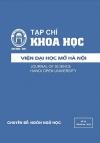 Tạp chí Khoa học Viện Đại học Mở Hà Nội số 20 tháng 06.2016